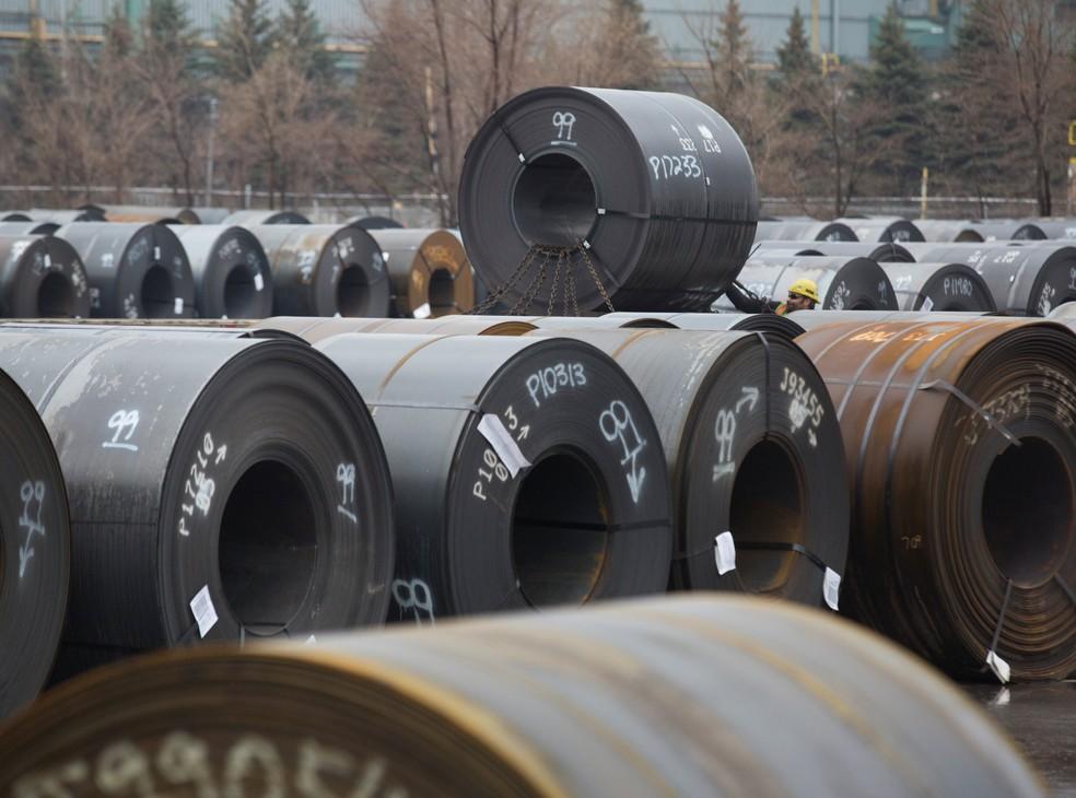 Estoque de aço da Arcelor Mittal em Hamilton, no Canadá (Foto: REUTERS/Peter Power)