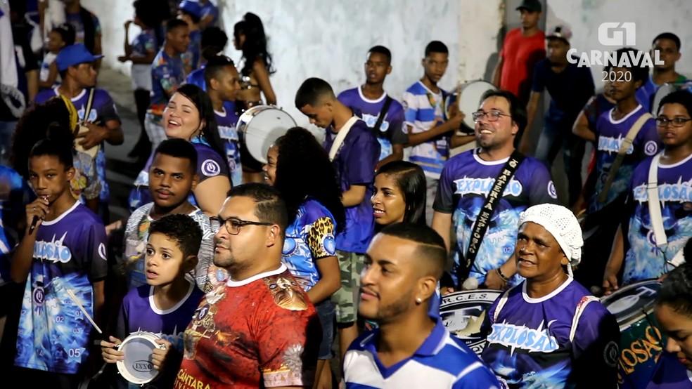 Turma do Quinto desfila no domingo de carnaval (23) — Foto: Reprodução/G1 MA