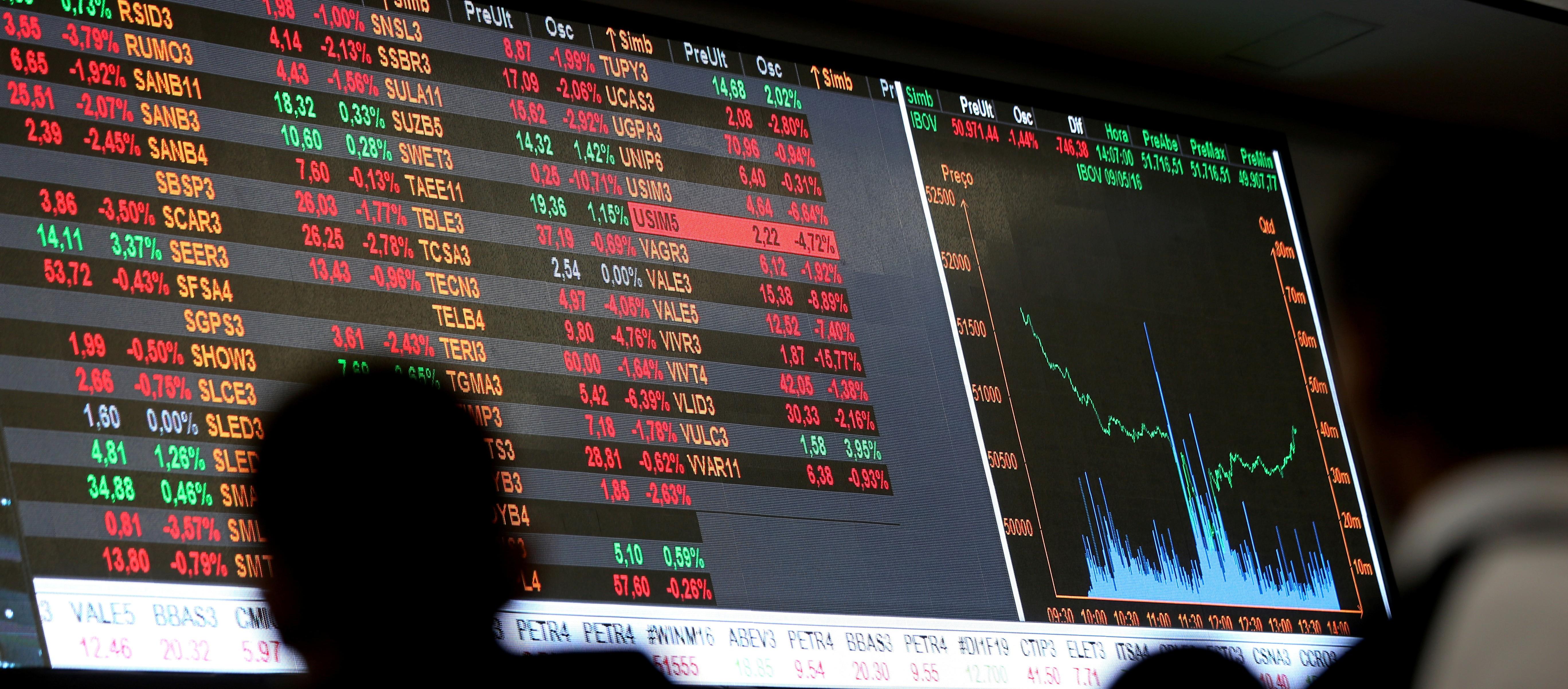Bovespa fecha em queda, puxada por bancos após ânimo com chance de mais cortes de juros - Notícias - Plantão Diário