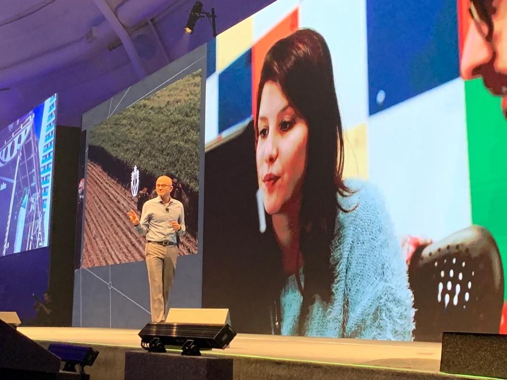 Satya Nadella, presidente da Microsoft — Foto: Thiago Lavado/G1