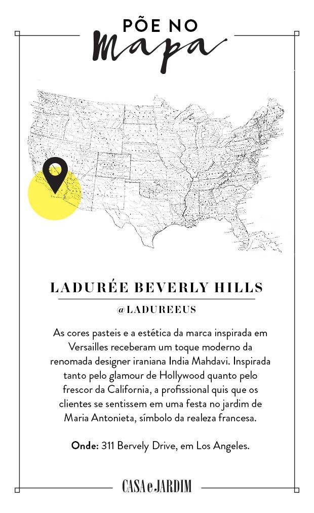 Ladurée Bervely Hills, em Los Angeles (Foto: Victor Amirabile)