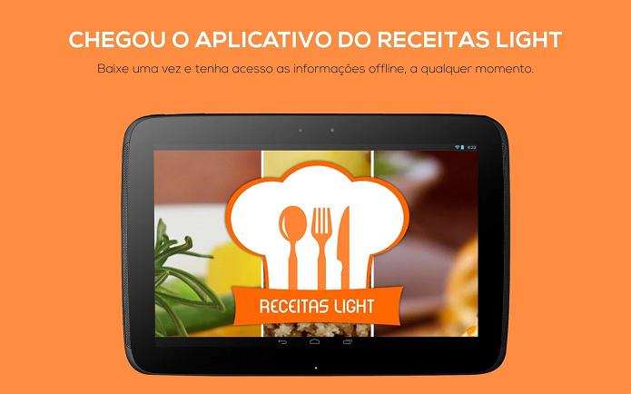 Receitas Light é um app para quem quer aprender a cozinhar comidas saudáveis (Foto: Divulgação)