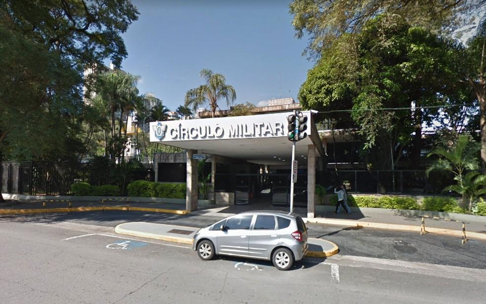 Fachada do clube Círculo Militar, na região do Ibirapuera — Foto: Reprodução/Google Street View