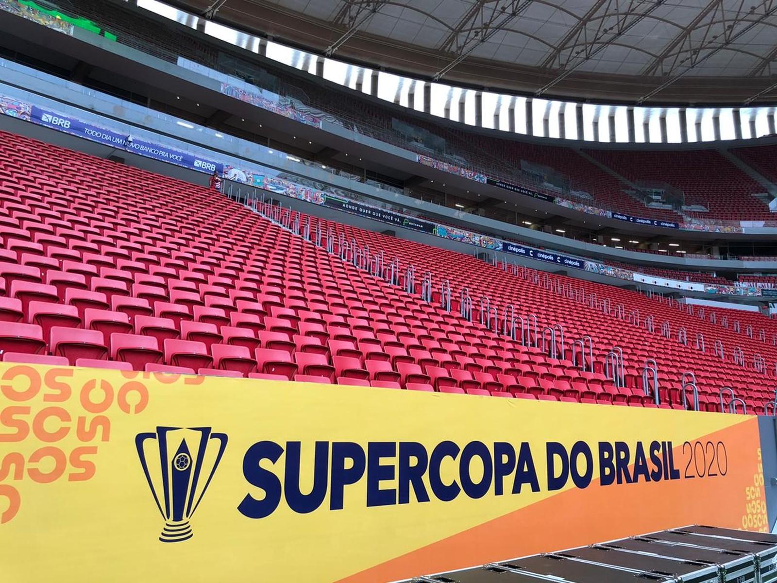 Com 45 mil ingressos vendidos, Mané Garrincha ganha a cara da Supercopa do Brasil