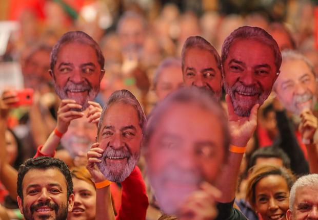 Ato nacional de lançamento da pré-candidatura de Lula a presidente do Brasil, em Contagem, Minas Gerais (Foto: Ricardo Stuckert/Fotos Públicas)