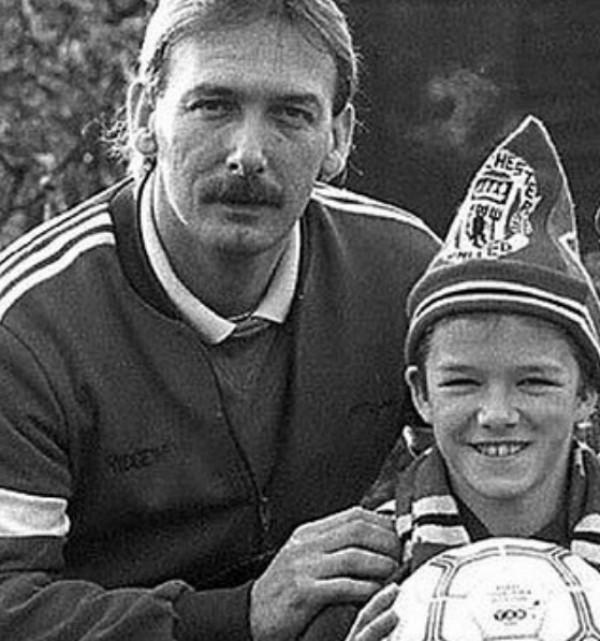 David Beckham ao lado de seu pai (Foto: Reprodução Instagram)