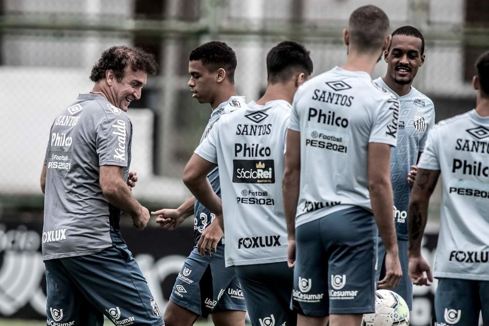 Santos não deve ter todos os jogadores na partida contra o Atlético-MG — Foto: Ivan Storti/Santos FC