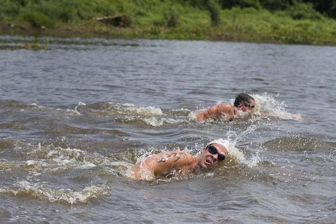 Maratona aquática na 3ª edição do Pantanal Extremo em Corumbá (Foto: Divulgação/Prefeitura de Corumbá)