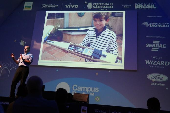 Chris Anderson inspira jovens brasileiros a empreender, criar e desenvolver ideias (Foto: Paulo Figueiredo / TechTudo)