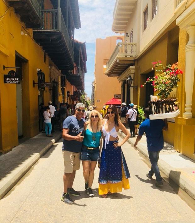 Mari Antunes curte Cartagena antes de cruzeiro (Foto: Divulgação)