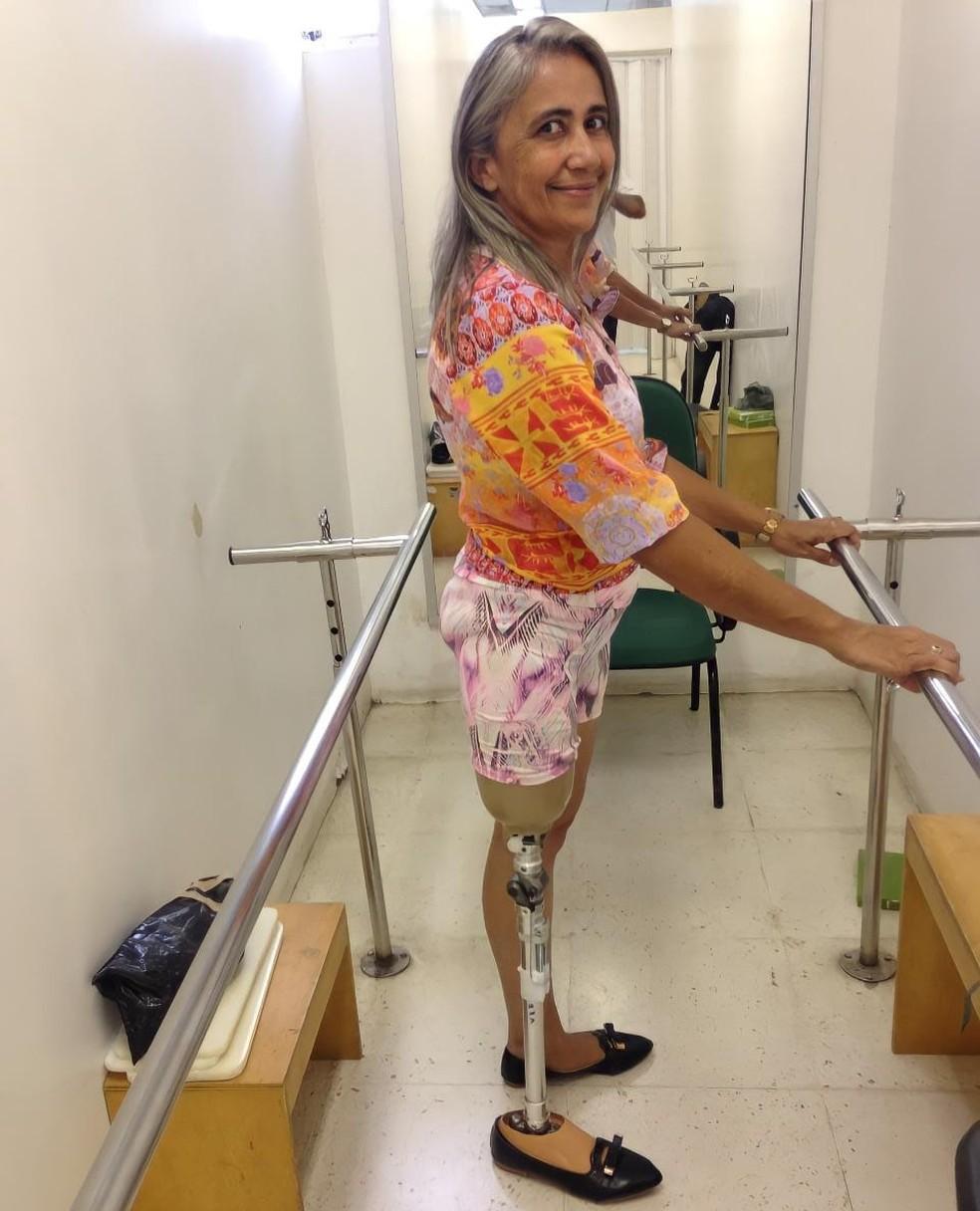 Aos 50 anos, Joana foi aprovada na Universidade Federal do Piauí  — Foto: Arquivo Pessoal