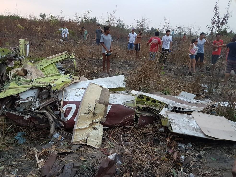 Avião cai em Itaituba, no Pará (Foto: Reprodução / TV Liberal)