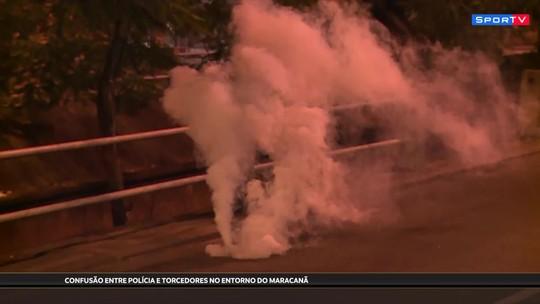 Confusão, bomba e correria no Maracanã: polícia coíbe tentativa de invasão no lado de fora do estádio