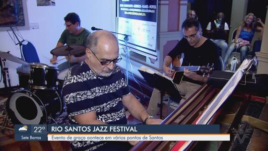 Rio Santos Jazz Festival é gratuito e acontece em vários pontos de Santos
