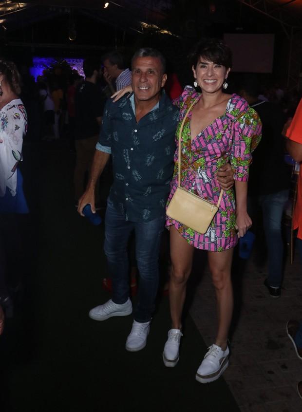 Fernanda Paes Leme e Eri Johnson (Foto: Thyago Andrade/Brazil News)