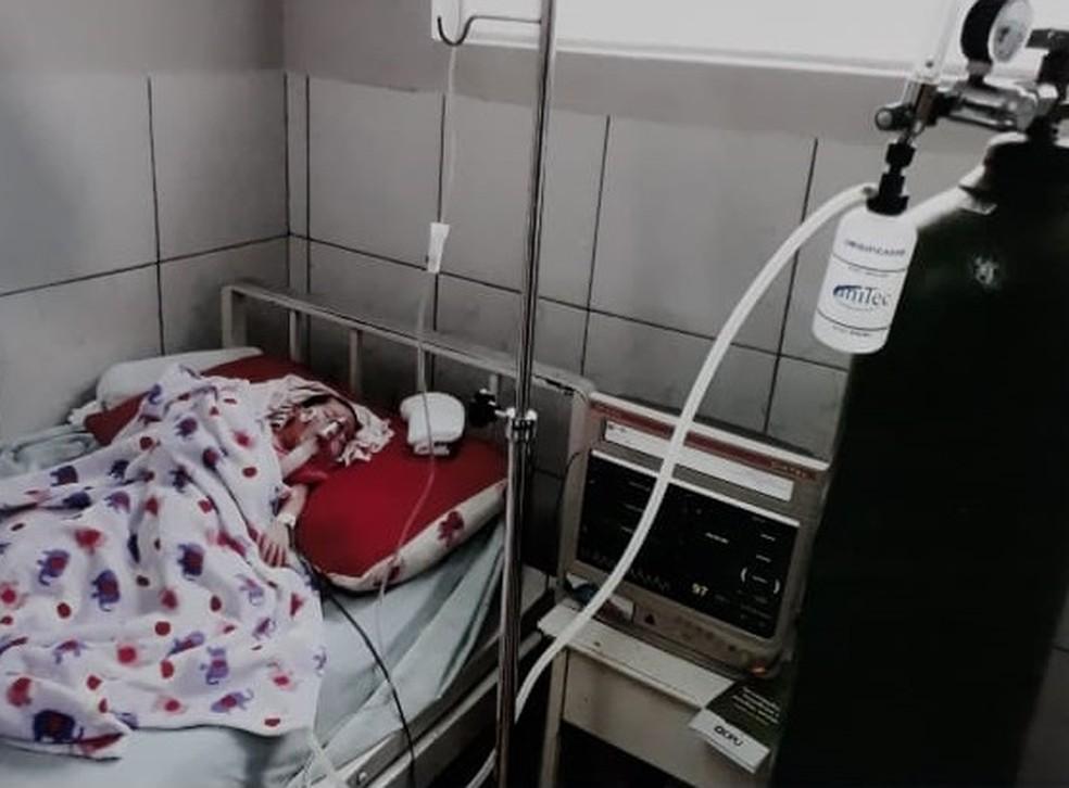Recém-nascida foi internada no Hospital Municipal de Juína no último domingo (3) (Foto: Arquivo pessoal)