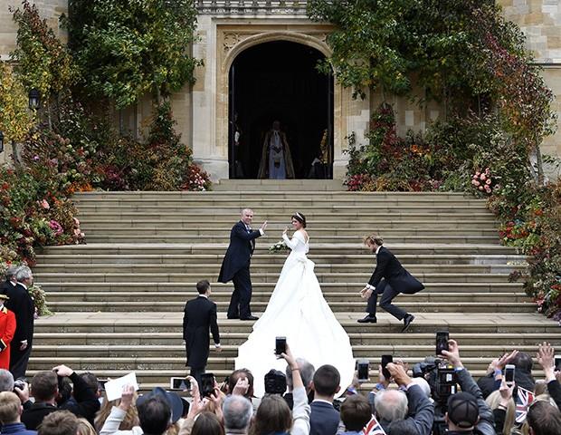 O casamento foi na capela de St. George, a mesma da cerimônia de Meghan Markle com o príncipe Harry (Foto: Getty Images)