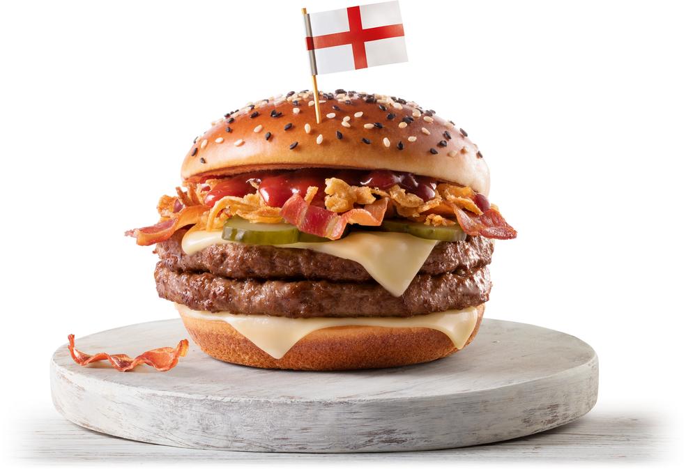 McInglaterra, um dos sanduíches do McDonald's lançado para a Copa do Mundo (Foto: Divulgação)