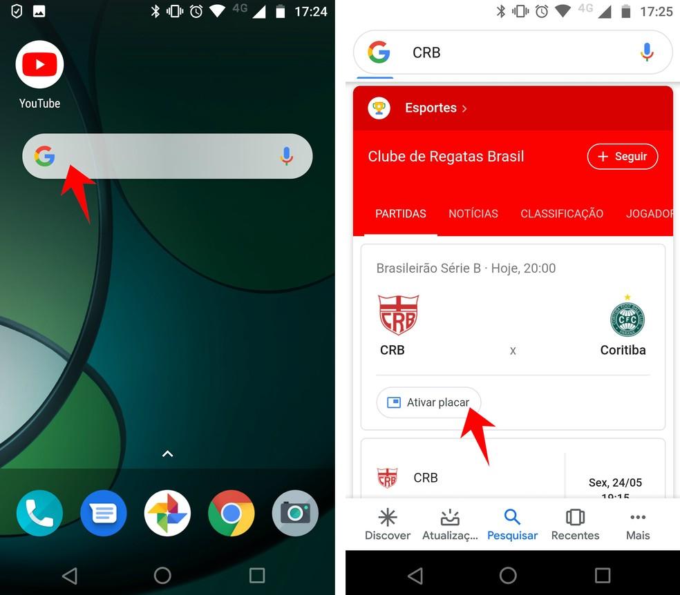Joga No Google Como Acompanhar Jogos De Futebol Em Tempo Real No Celular Apps Techtudo