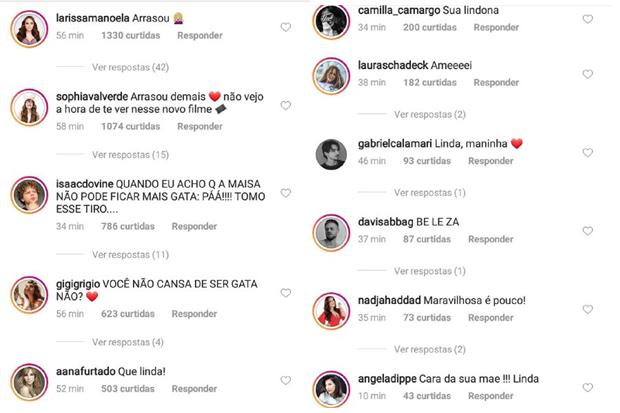 Famosos deixam elogios a Maisa (Foto: Reprodução/Instagram)