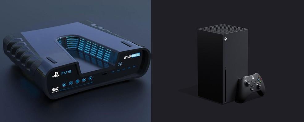 PlayStation 5 (foto não-oficial) e Xbox Series X possuem especificações parecidas, mas tem diferenças — Foto: Reprodução/Carlos Palmeira