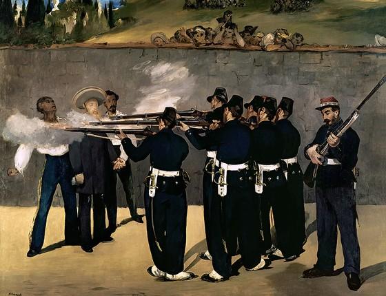 A execução de Maximiliano, pintura de Édouard Manet de 1869, com a morte do imperador mexicano por republicanos (Foto: BRIDGEMAN/GLOWIMAGES)