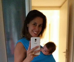 Dani Monteiro com o filho, Bento | Arquivo pessoal
