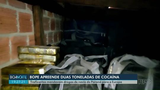 Traficantes são presos com duas toneladas de cocaína em marina em Guaratuba