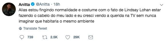Twitter Anitta (Foto: Reprodução Instagram)