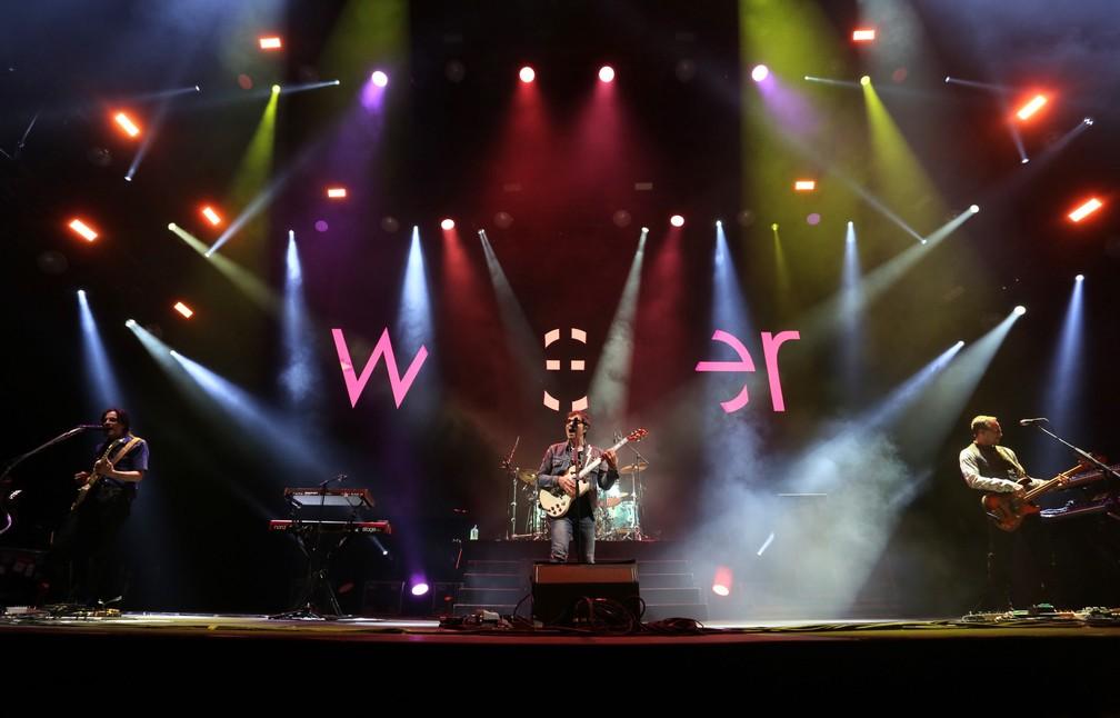 Antes de show no Rock in Rio, Weezer se apresenta nesta quinta (26), no Ginásio do Ibirapuera, em São Paulo — Foto: Celso Tavares/G1