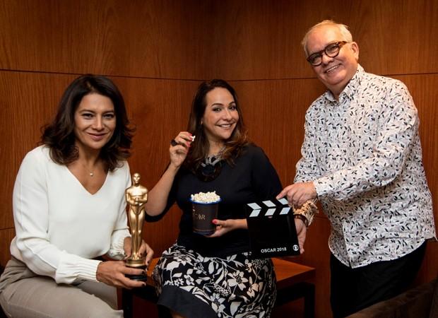 Dira Paes, Maria Beltrão e Artur Xexéo (Foto: Divulgação/TV Globo)