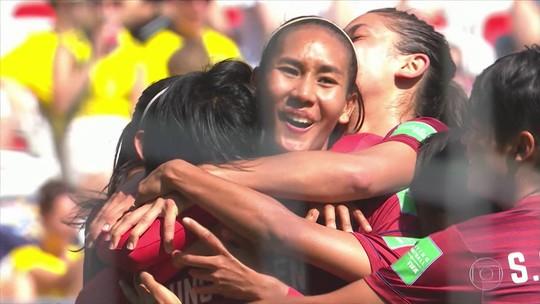 Após levar 17 gols em dois jogos, Tailândia marca na Copa do Mundo Feminina
