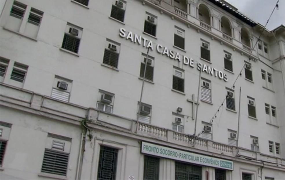 Santa Casa de Santos, no litoral de São Paulo (Foto: Reprodução/TV Tribuna)