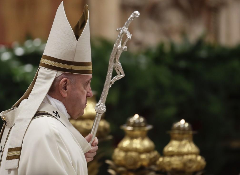 Papa missa — Foto: Alessandra Tarantino/AP