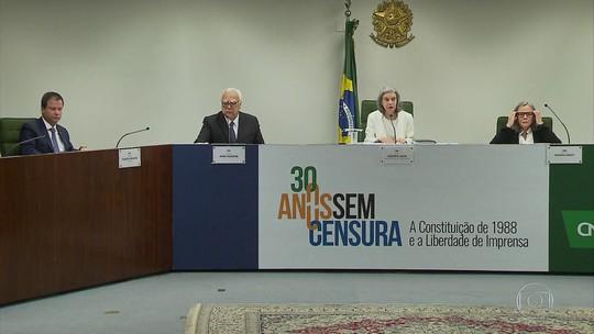 Justiça e Estado não funcionam bem sem imprensa livre, diz Cármen Lúcia