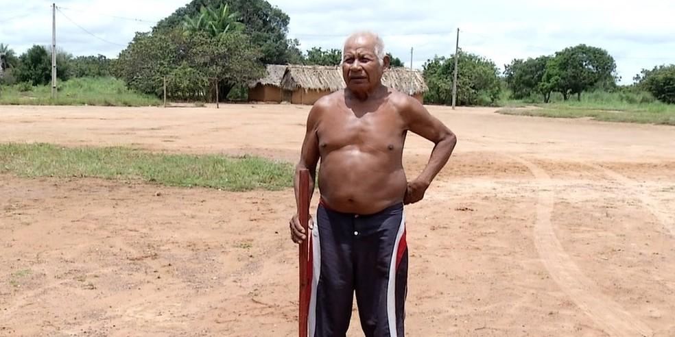 Líder de aldeia diz que indígenas nao receberam orientações — Foto: Reprodução/TV Anhanguera