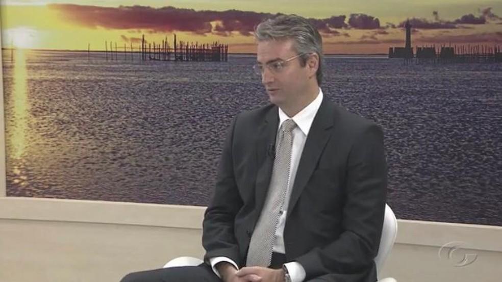 Delegado da PF Rolando Alexandre de Souza — Foto: Reprodução/TV Gazeta