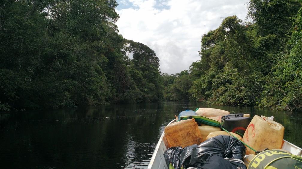 O maior desafio dessa obra é levar os insumos até a obra no coração da Amazônia — Foto: Divulgação/Creatos Arquitetura