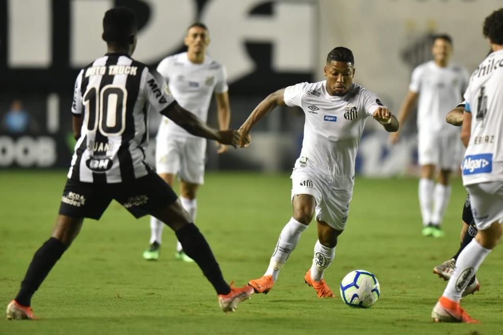 Marinho na partida contra o Atlético-MG — Foto: Ivan Storti | Santos FC