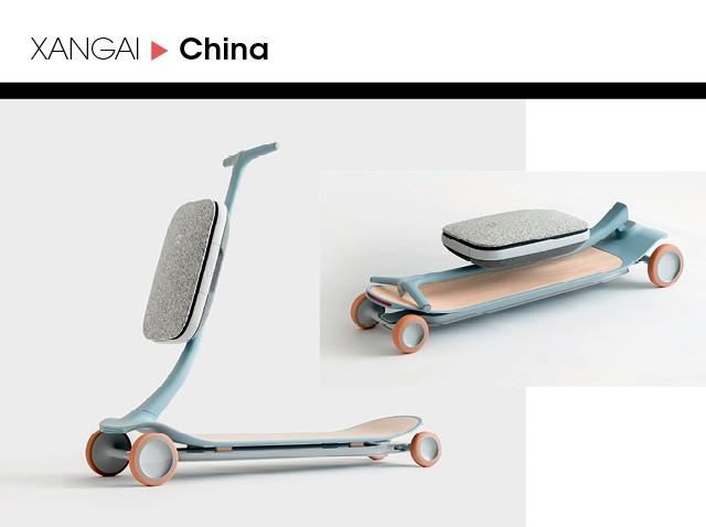 A montadora chinesa Nio inventou um patinete autônomo, o Pal. Movido a bateria, o microveículo é leve, com estrutura de grafeno, linhas minimalistas — desenhadas pelo escritório britânico Layer  (Foto: Divulgação)