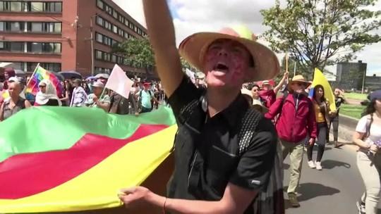 Colômbia tem terceira greve geral em duas semanas