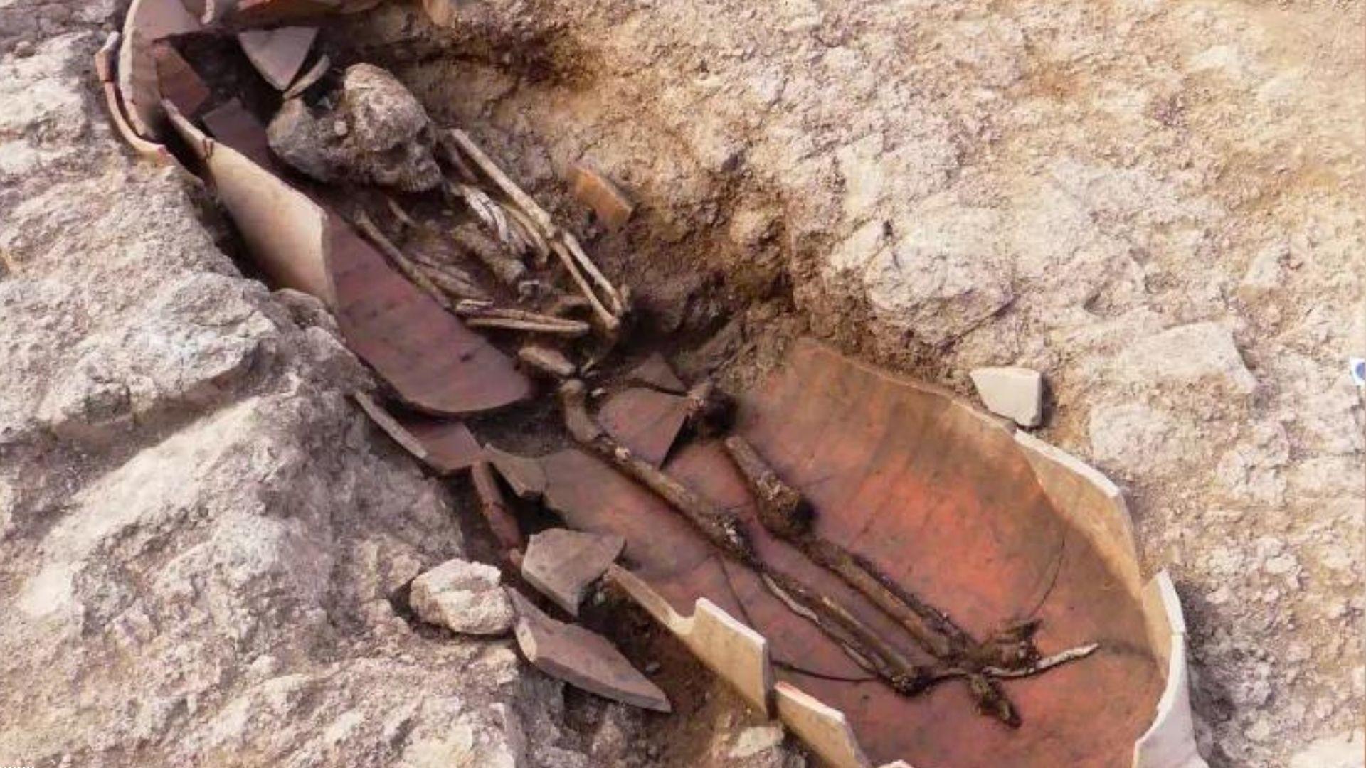 Arqueólogos descobriram restos humanos na antiga necrópole da Córsega, na França (Foto: Jean-Jacques Grizeaud)