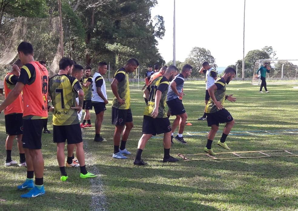 Em Campo Grande desde domingo, o Botafogo-PB considera o principal jogo do primeiro semestre nesta quarta-feira — Foto: Divulgação/Botafogo-PB