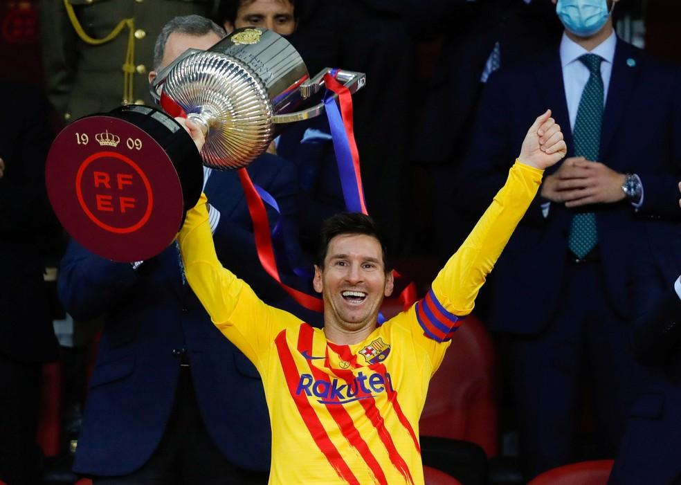 Messi falou da importância da Copa do Rei para o Barcelona — Foto: Reuters