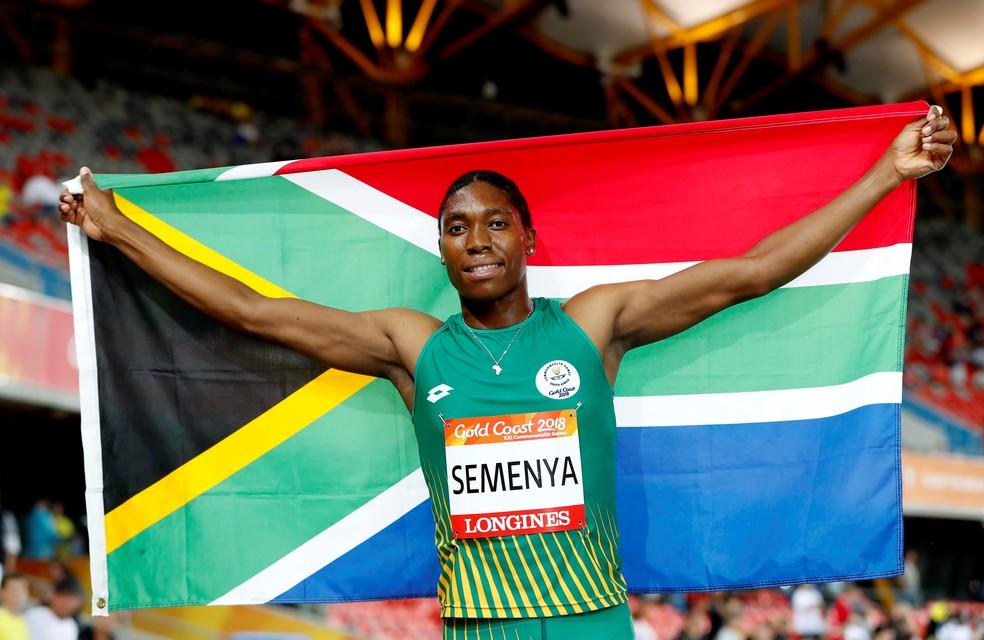 Caster Semenya é bicampeã olímpica nos 800 metros — Foto: Paul Childs/Reuters