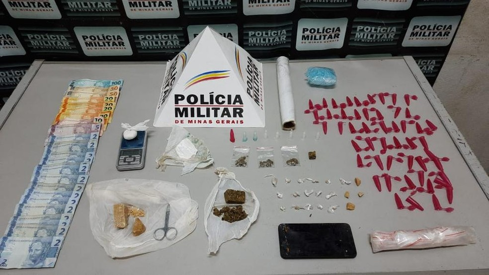 Droga, apreensão, Pará de Minas — Foto: Polícia Militar/Divulgação
