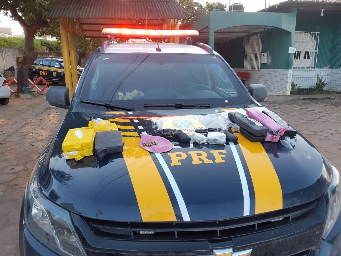 Três homens são presos transportando droga em fundos falsos de van no Sul do Piauí