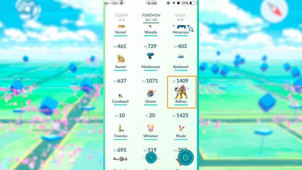 Alege Pokémon-ul pe care vrei să-l consolidezi în Pokémon GO - Foto: Play / Felipe Vinha