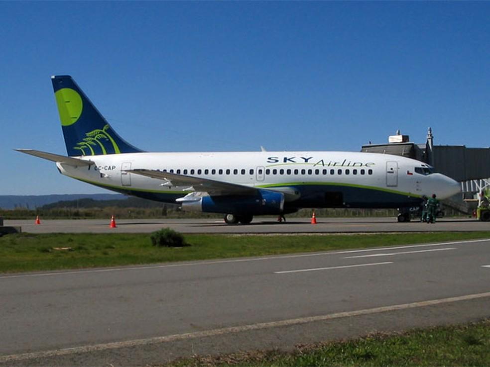 Aeronave da Sky Airline em imagem de arquivo — Foto: Mavalenzu/Ceative Commons