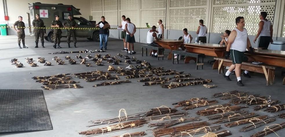 Mais de 800 armas que estavam sob os cuidados do Tribunal de Justiça do Ceará serão destruídas. — Foto: Divulgação/TJCE